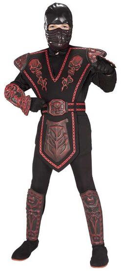 Red Skull Warrior Ninja Kids Costume