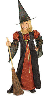 Kids Renaissance Glitter Witch Costume