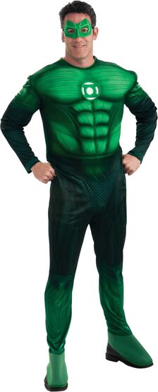 Mens Muscle Chest Green Lantern Adult Costume