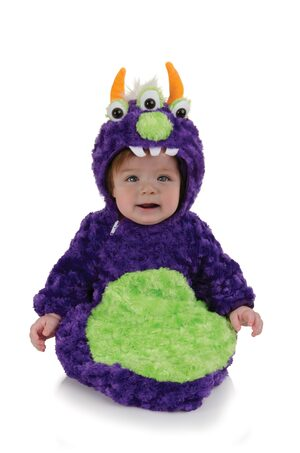 Purple Monster Bunting Baby Costume