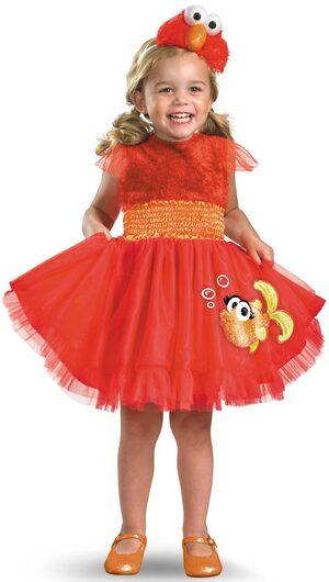 Girls Frilly Elmo Kids Costume