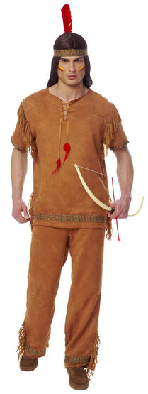 Native American Indian Brave Adult Costume