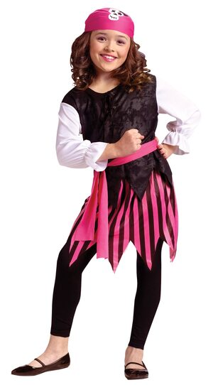 Girls Caribbean Pirate Kids Costume