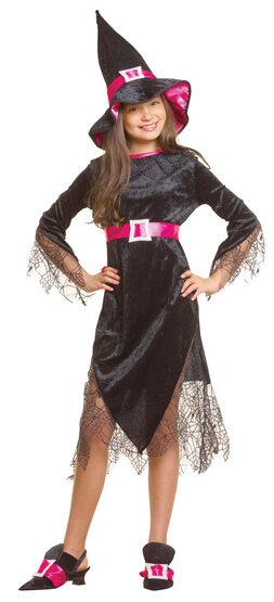 Girls Glamour Witch Kids Costume