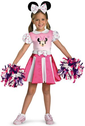 Toddler Minnie Mouse Cheerleader Kids Costume