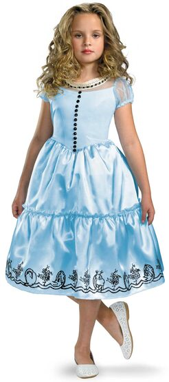 Classic Alice In Wonderland Kids Costume