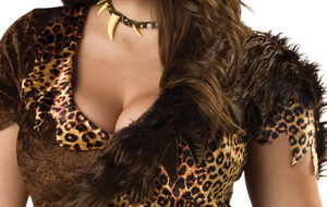 Barbarian Cave Woman Costume Plus Size Costume