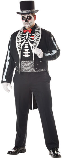 Mens Graveyard Groom Plus Size Costume