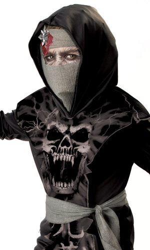 Dark Zombie Ninja Kids Costume