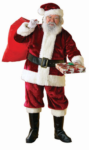 Deluxe Crimson Premier Plush Santa Suit (Plus Size) - Costume
