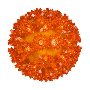 "Amber 7.5"" LED Halloween Light Sphere"