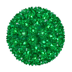 "Green 7.5"" LED Halloween Light Sphere"