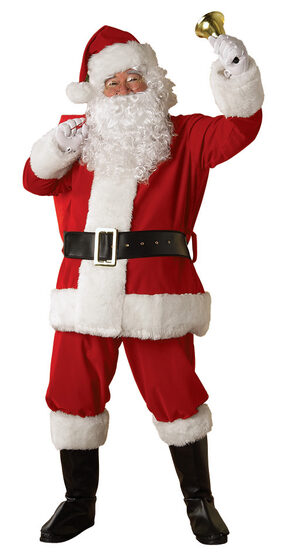 XL Regency Plush Santa Suit Adult Costume
