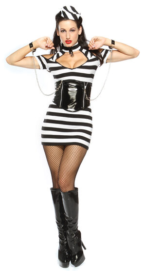 Sexy Lock Me Up Convict Costume