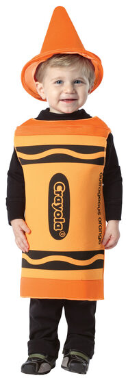 Outrageous Orange Crayon Kids Costume