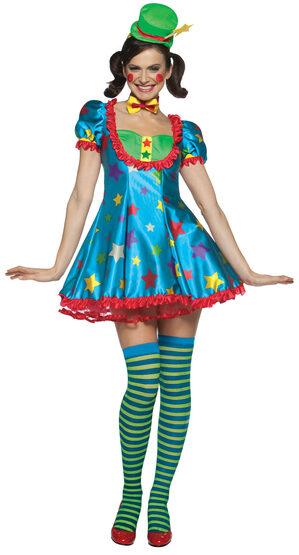 Sexy Star Clown Gal Costume