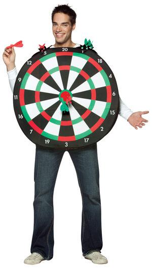 Bullseye Dartboard Funny Adult Costume