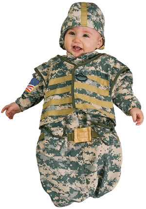 Boys Bunting Soldier Baby Costume