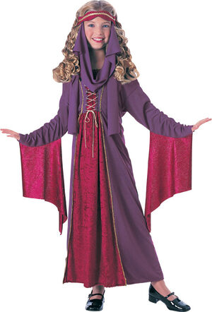 Girls Gothic Princess Kids Costume