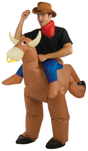 Inflatable Bull Riding Cowboy Adult Costume
