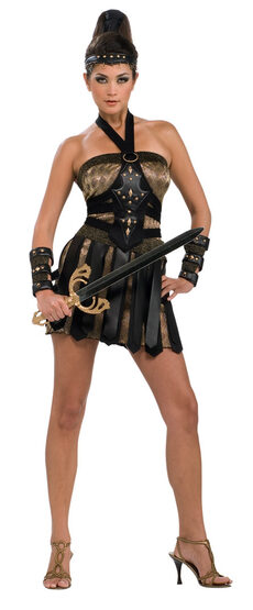 Sexy Roman Warrior Queen Costume