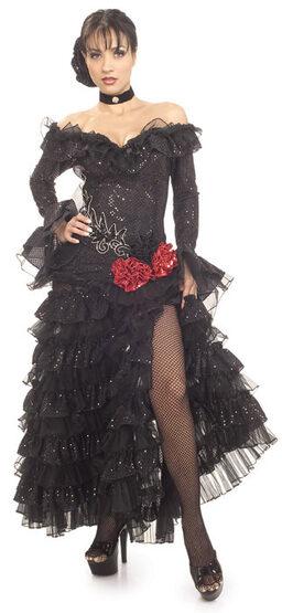 Sexy Grand Heritage Black Senorita Costume