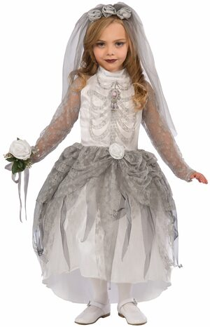 Spooky Skeleton Bride Kids Costume