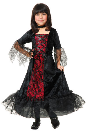 Girls Gothic Vampira Kids Costume