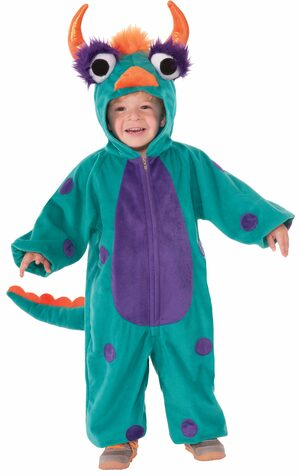 scary green monster kids costume