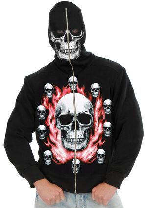 Mens Burning Skulls Hoodie