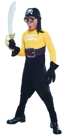 Despicable Me Minion Pirate Kids Costume