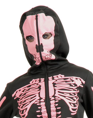 Scary Pink Skeleton Womens Hoodie
