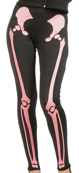 Pink Skeleton Leggings Adult Costume