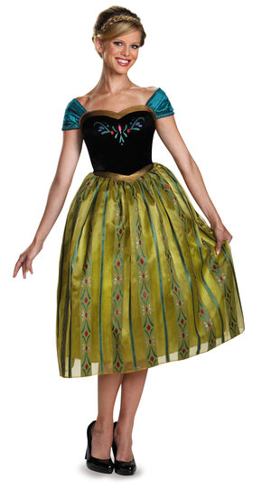 Anna Coronation Deluxe Frozen Adult Costume