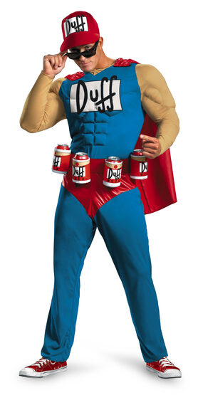 Duffman Simpsons Muscle Adult Costume