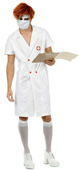 Mens Twisted Nurse Joker Adult Costume