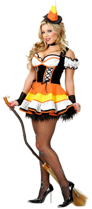 womens candy corn witch costume mr costumes