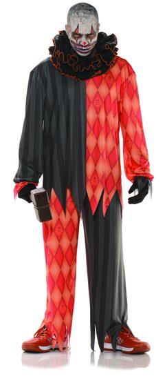 Evil Psycho Clown Adult Costume