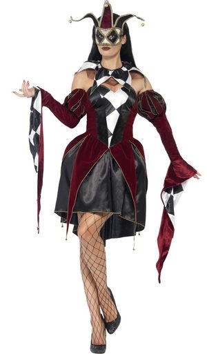 Gothic Venetian Harlequin Adult Costume