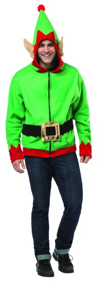 Elf Hoodie Adult Costume