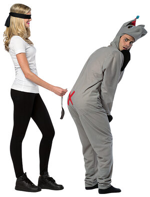 Funny Pin the Tail on the Donkey Adult Costume