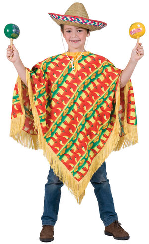 Fiesta Mexican Poncho Kids Costume