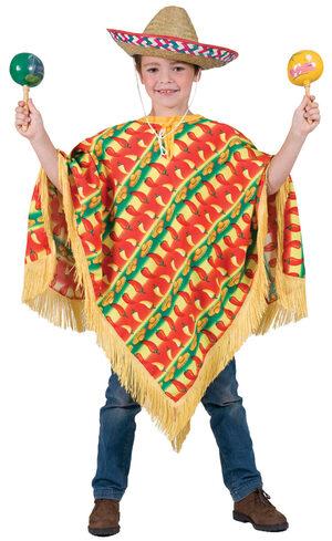 Fiesta Mexican Poncho Kids Costume