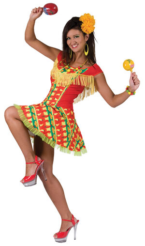 Womens Fiesta Dress Mexican Adult Costume