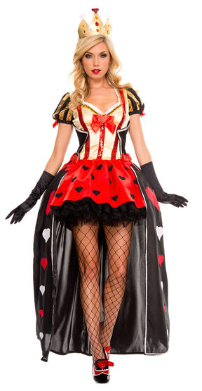 Sexy Luxurious Sequined of Queen of Hearts Costume