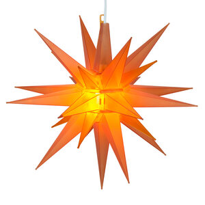 "14"" Amber LED Moravian Star Halloween Decor"