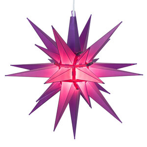 "14"" Pink LED Moravian Star Halloween Decor"