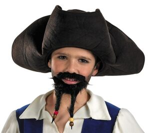 Kids Pirate Hat with Moustache and Goatee
