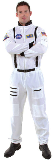 Mens White Astronaut Adult Costume