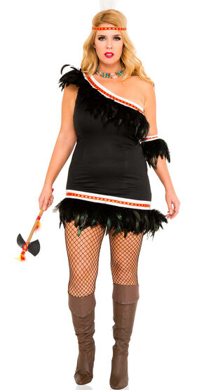 Huron Honey Native American Plus Size Costume